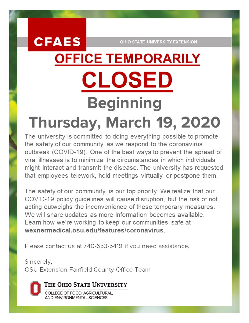 Office closure notification
