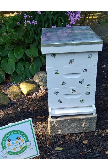 Bee Hive/pollinator at Wagnall's Garden