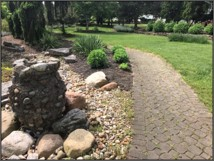 Rock Vase area in Wagnall's Garden